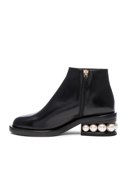 Image 5 of Nicholas Kirkwood Leather Casati Pearl Boots in Black