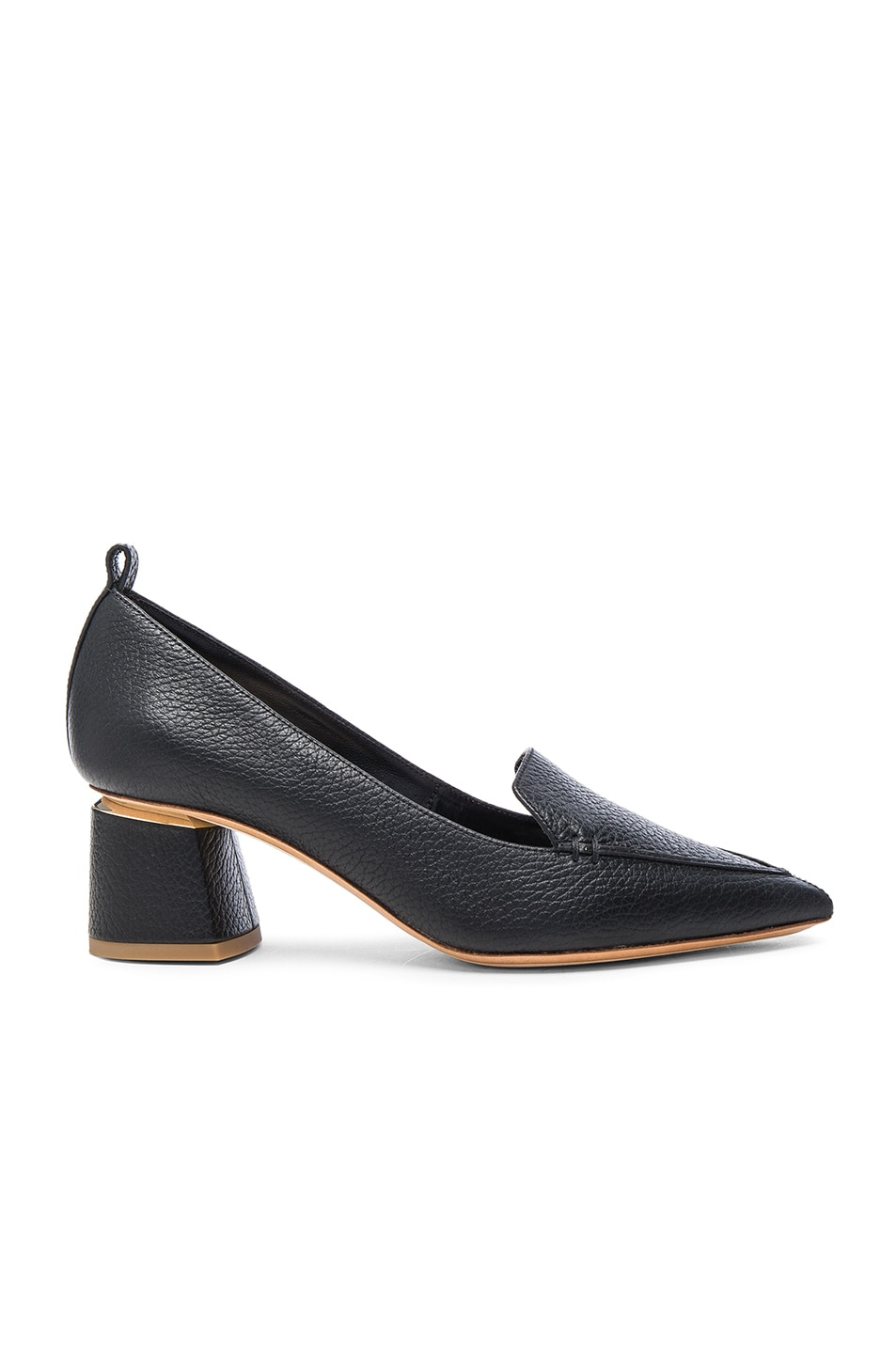 Image 1 of Nicholas Kirkwood Leather Beya Block Heels in Black