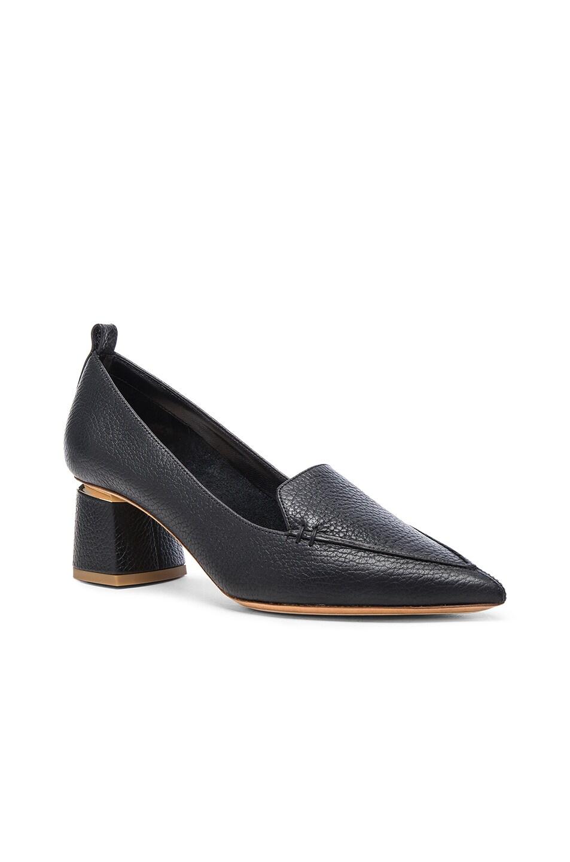 Image 2 of Nicholas Kirkwood Leather Beya Block Heels in Black
