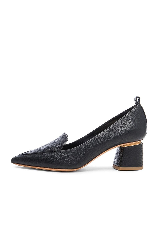 Image 5 of Nicholas Kirkwood Leather Beya Block Heels in Black