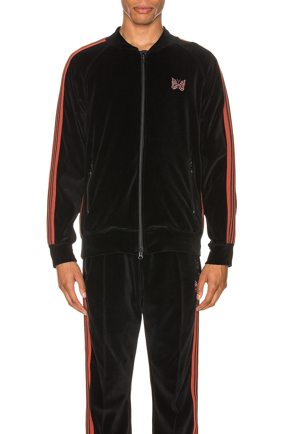 Image 2 of Needles Rib Collar Track Jacket in Black