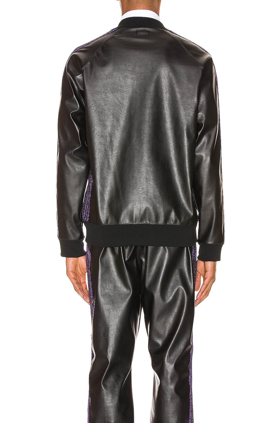 Image 4 of Needles Rib Collar Track Jacket in Black