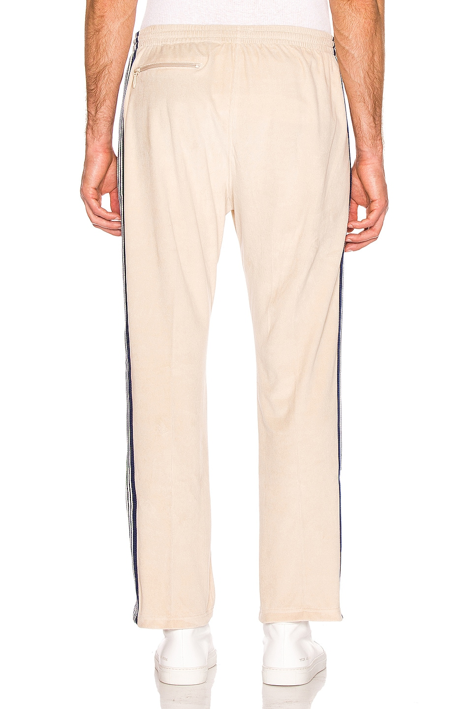 Image 4 of Needles Narrow Velour Track Pant in Beige