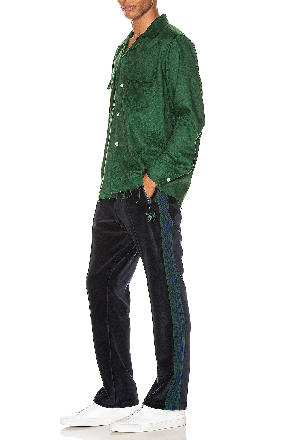 Image 5 of Needles Narrow Track Pant in Navy