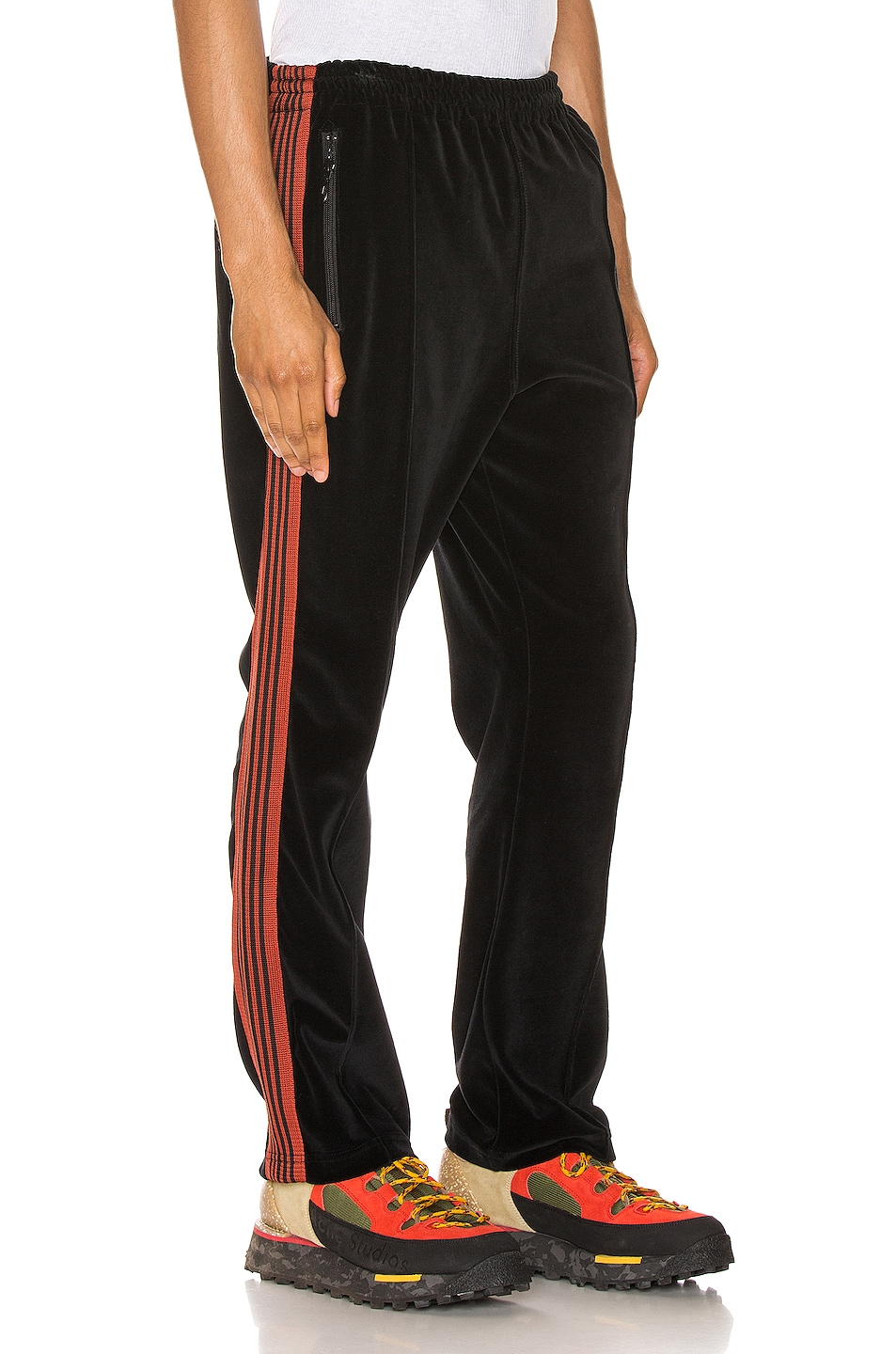 Image 3 of Needles Narrow Track Pant in Black