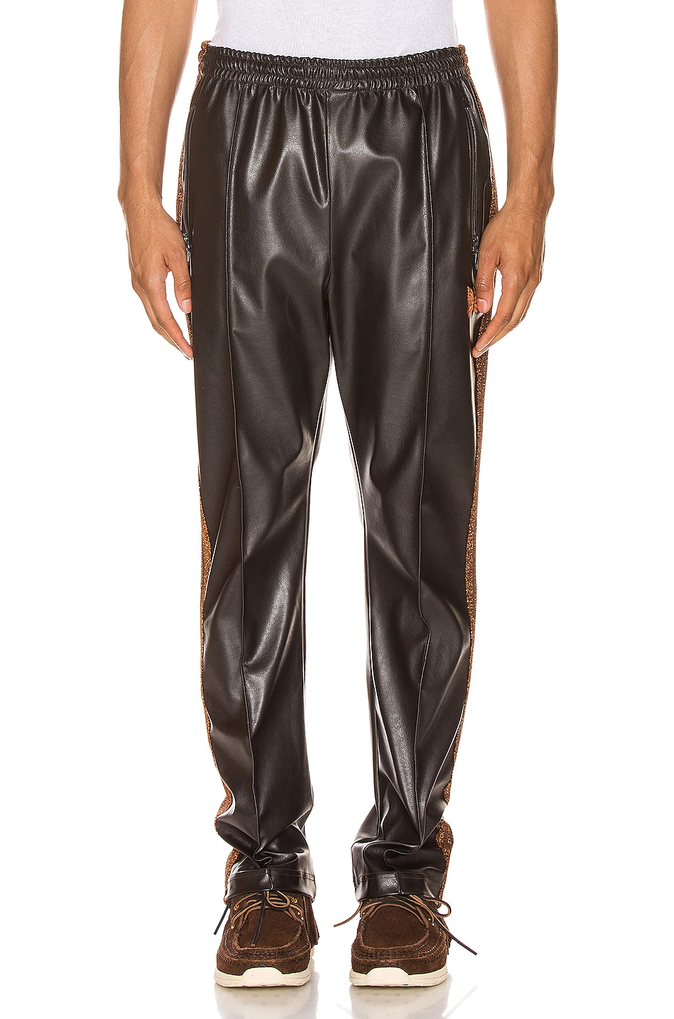 Image 2 of Needles Track Pant in Brown