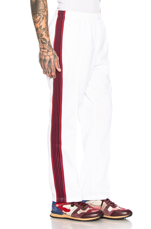 Needles Pants NEEDLES NARROW TRACK PANT IN WHITE