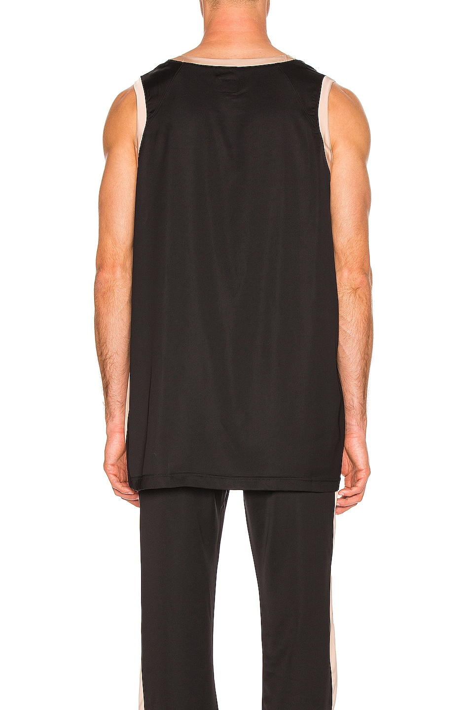 Image 4 of Needles Papillion Embroidered Side Line Tank Top in Black