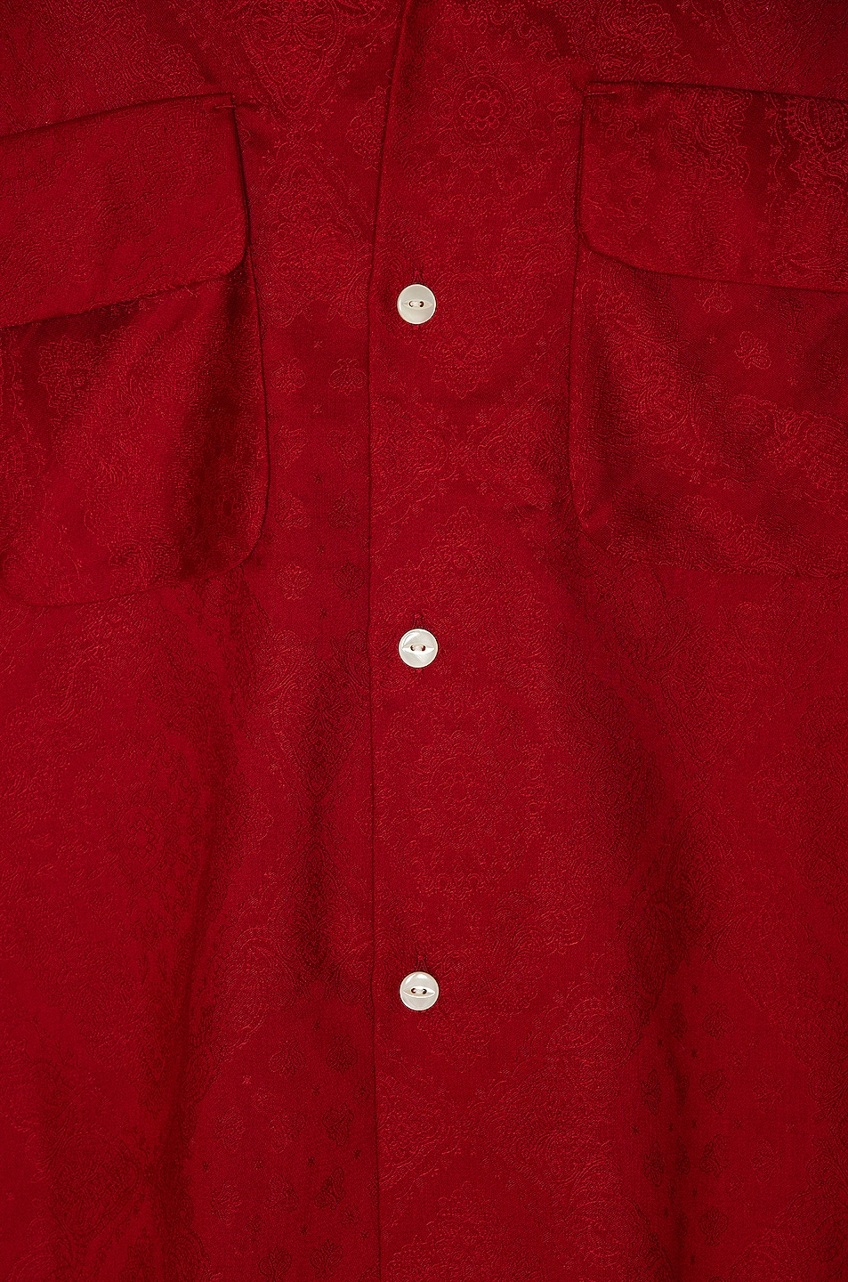 Image 5 of Needles Cut-Off Bottom Classic Shirt in Red