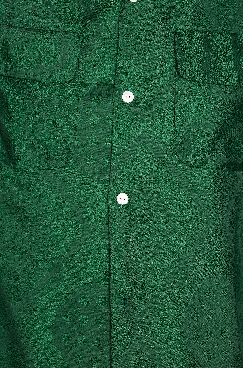 Image 5 of Needles Cut-Off Bottom Classic Shirt in Green