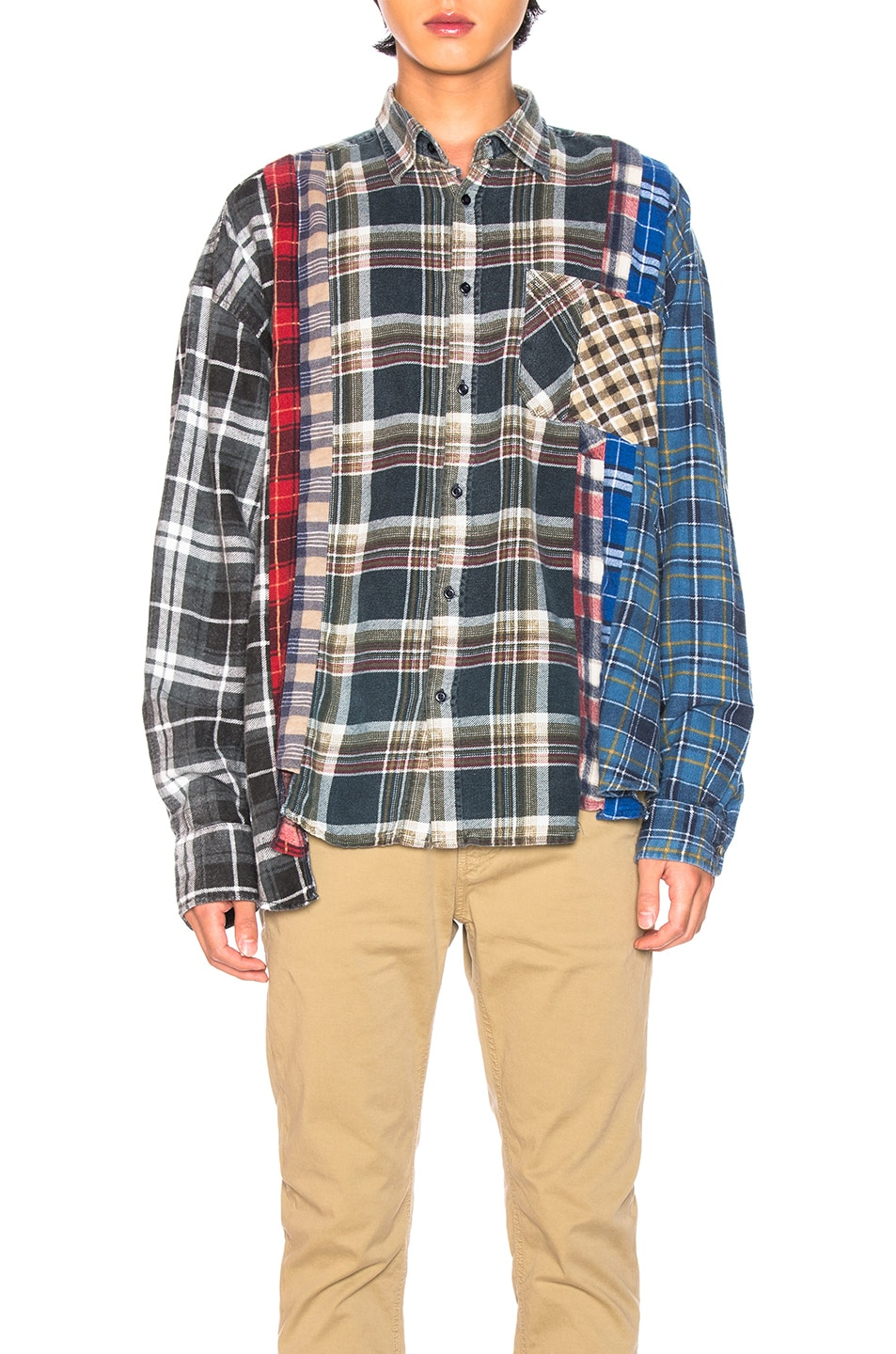 Image 1 of Needles Wide 7 Cut Flannel in Assorted