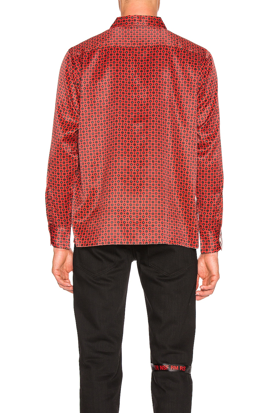 Image 4 of Needles Cut-Off Bottom Classic Shirt in Red