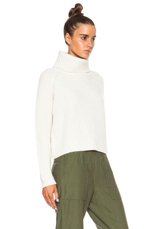 NLST Cashmere Cropped Turtleneck Sweater in Cream | FWRD
