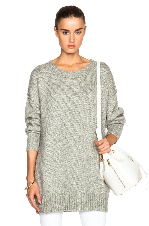 NLST Oversized Crewneck Sweater in Heather Grey | FWRD