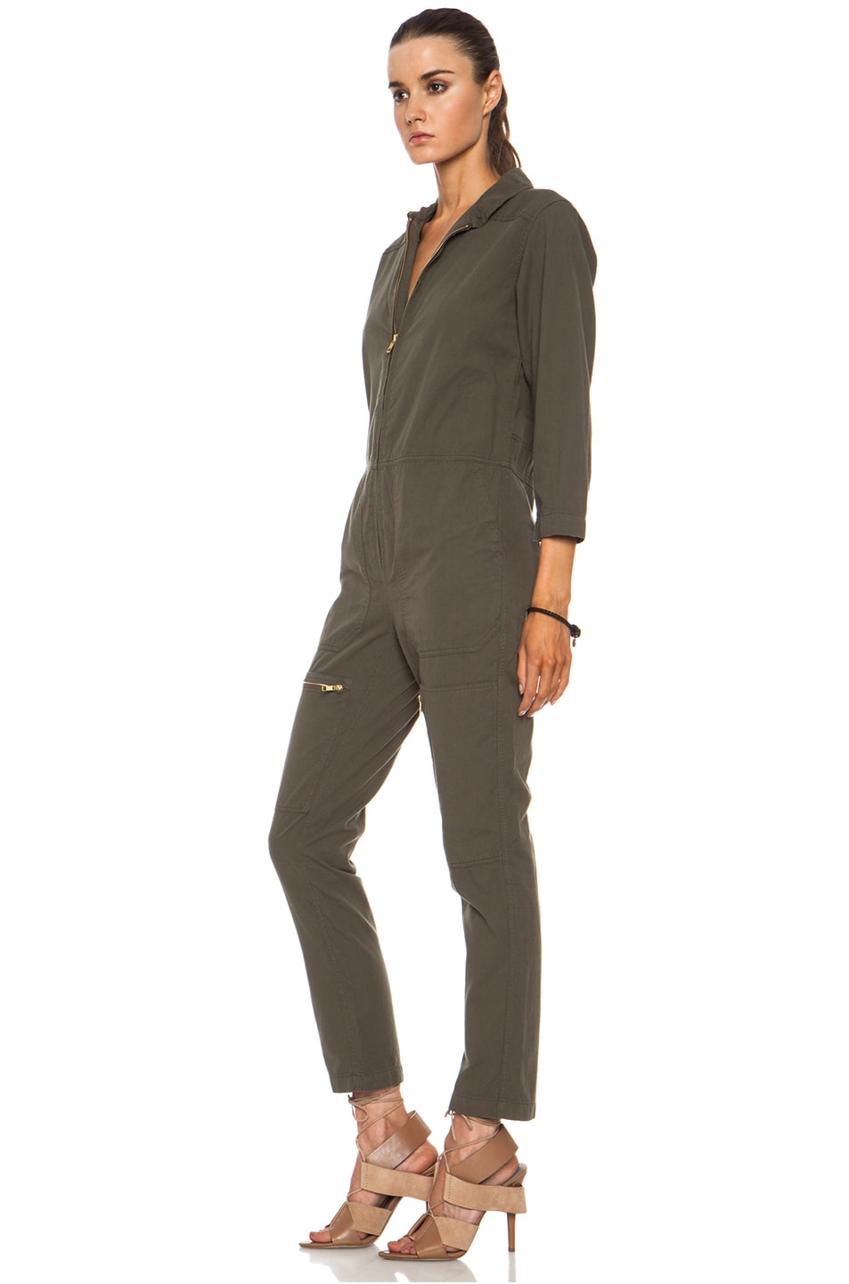Image 2 of NLST Cotton Flightsuit in Olive Drab