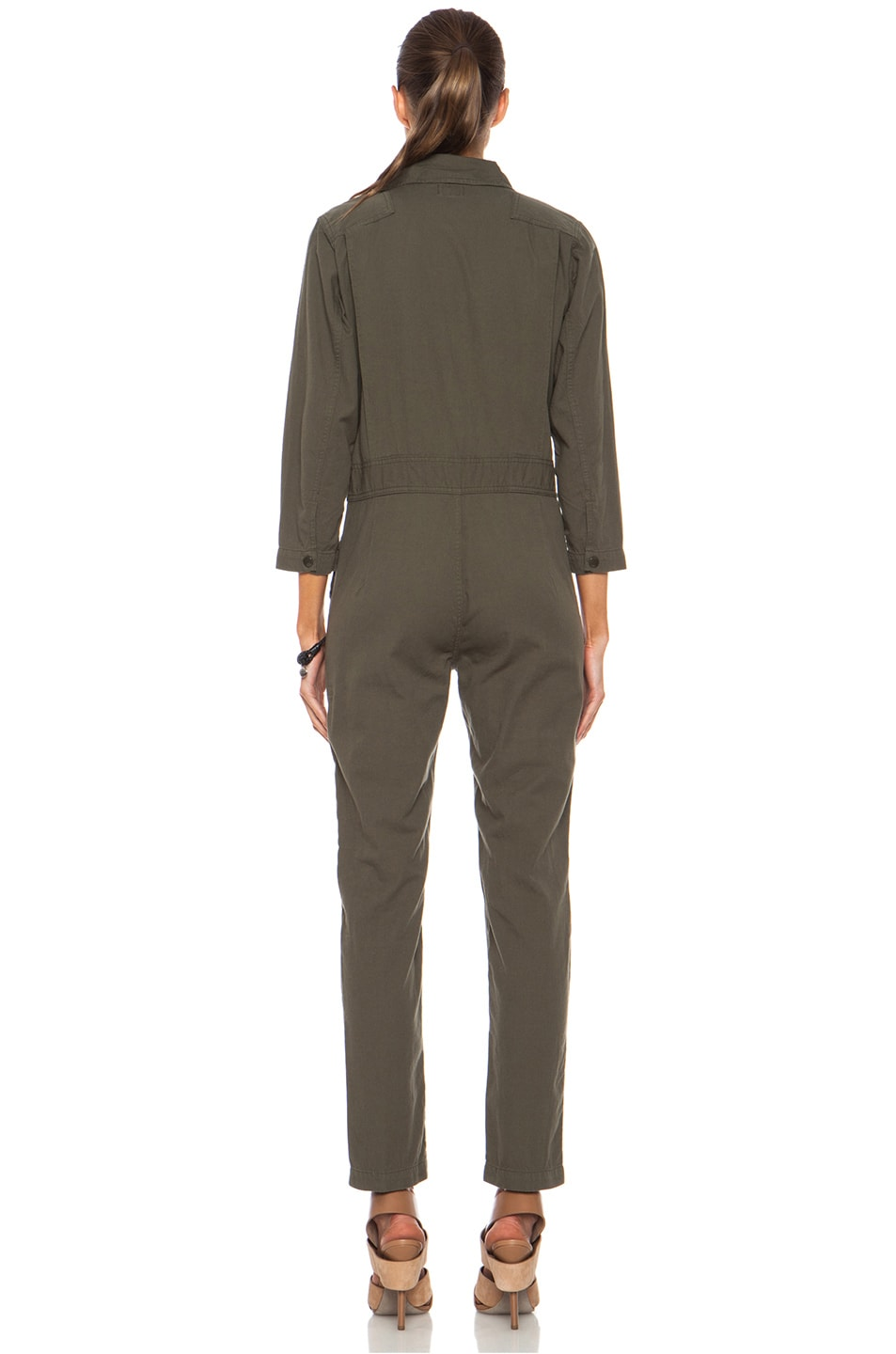 Image 4 of NLST Cotton Flightsuit in Olive Drab