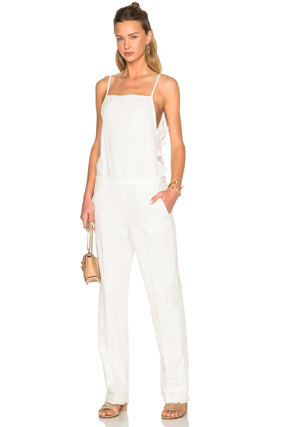 Image 1 of No. 21 Jumpsuit in White