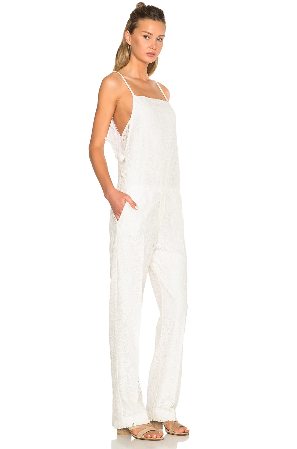 Image 3 of No. 21 Jumpsuit in White