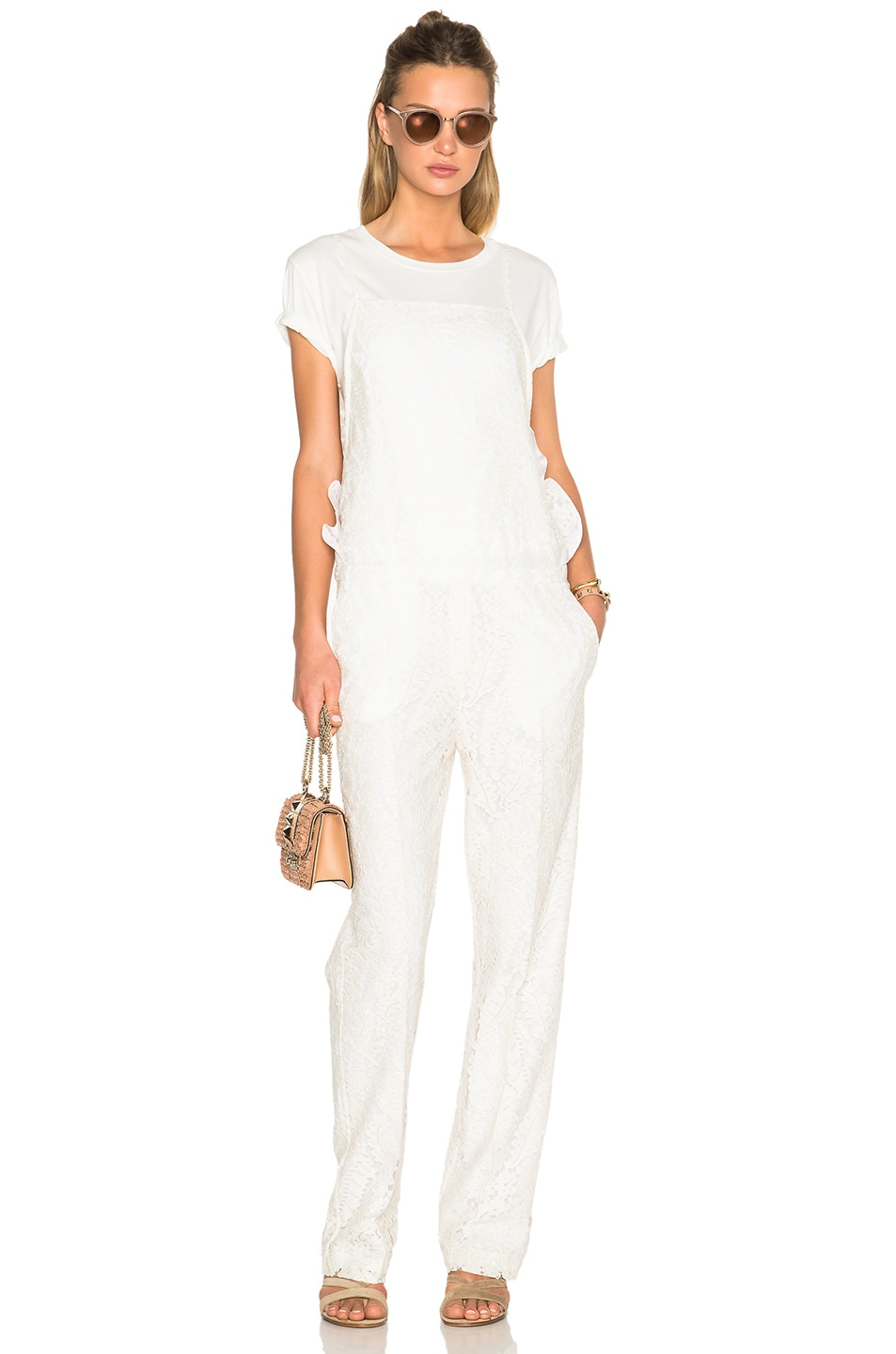 Image 5 of No. 21 Jumpsuit in White