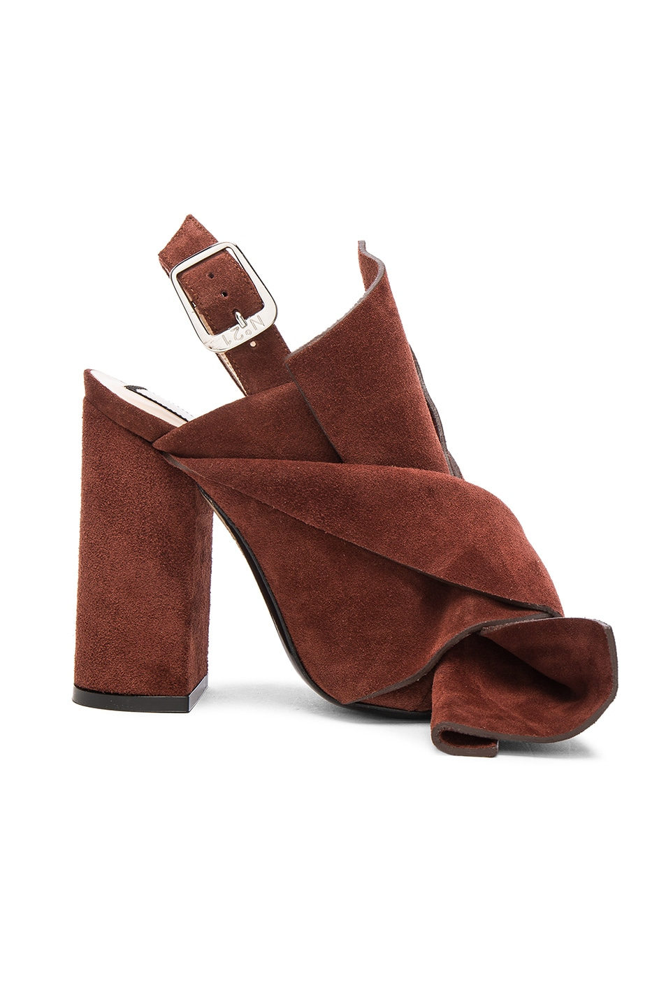 Image 1 of No. 21 Suede Bow Heels in Muscat