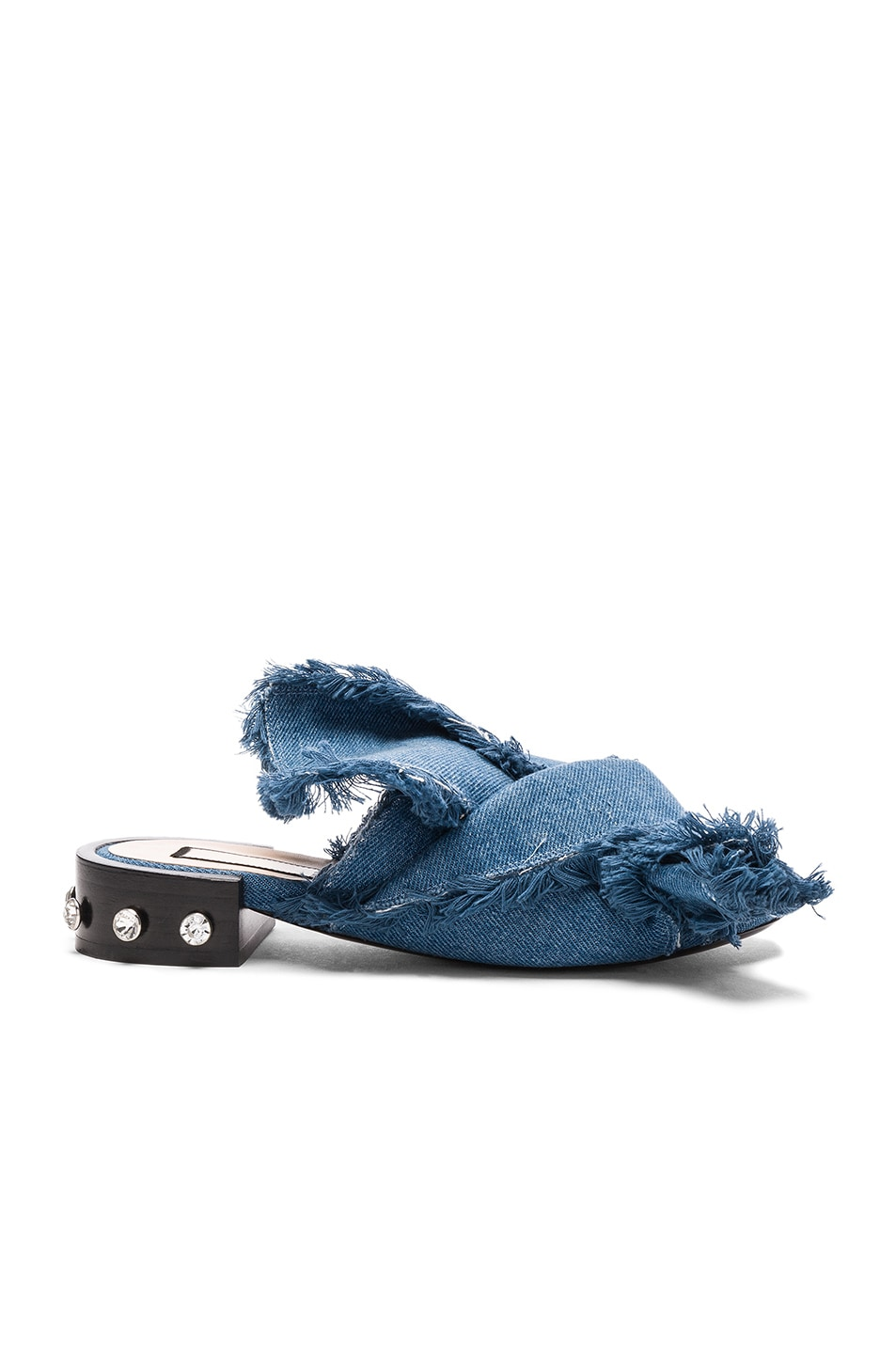 Image 1 of No. 21 Bow Denim Mules in Denim Blue
