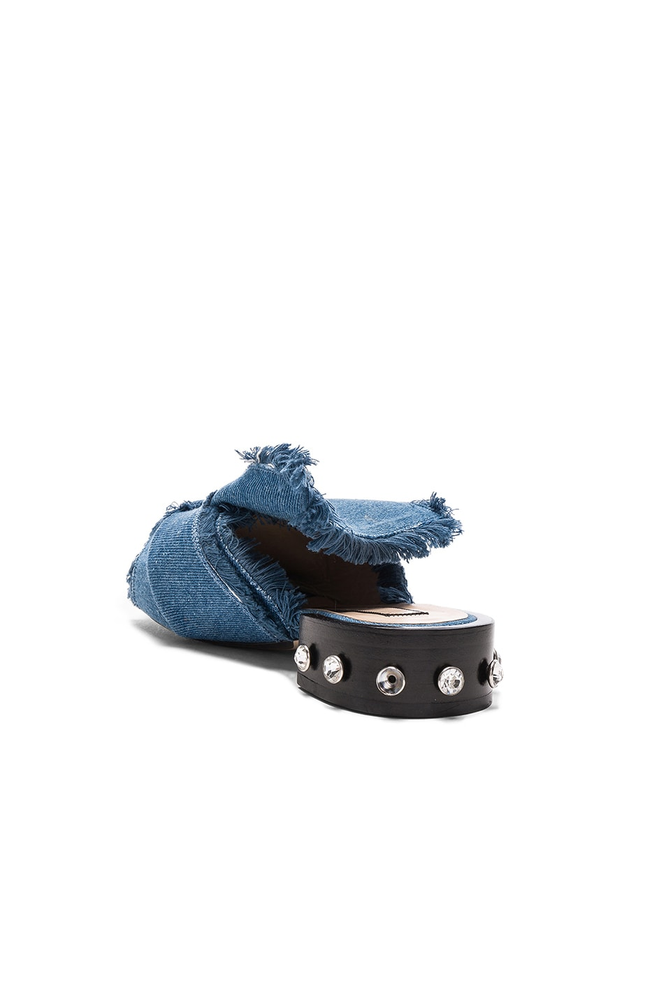 Image 3 of No. 21 Bow Denim Mules in Denim Blue