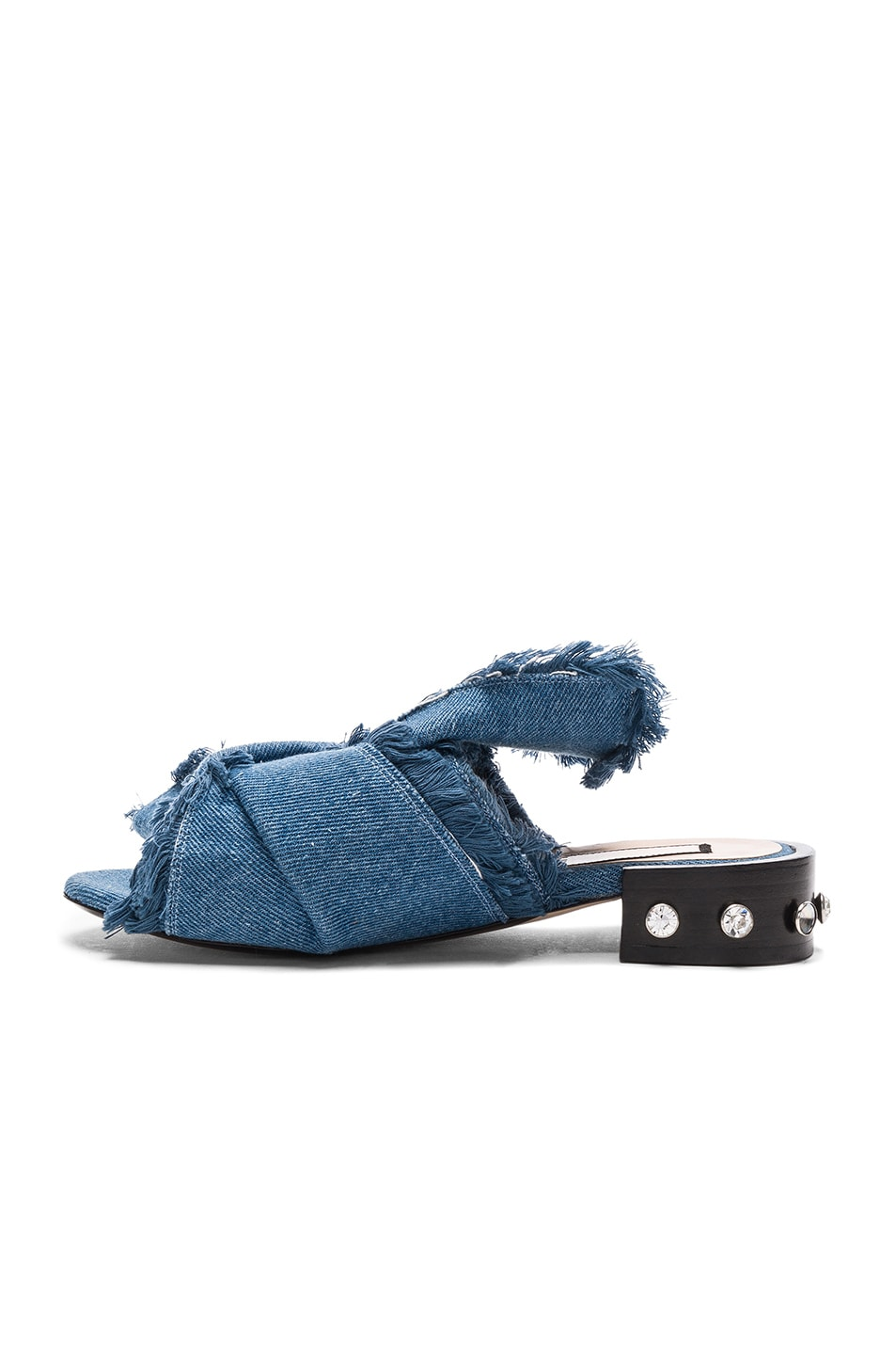 Image 5 of No. 21 Bow Denim Mules in Denim Blue
