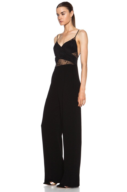 Image 2 of Noam Hanoch Anabella Acetate-Blend Jumpsuit in Black
