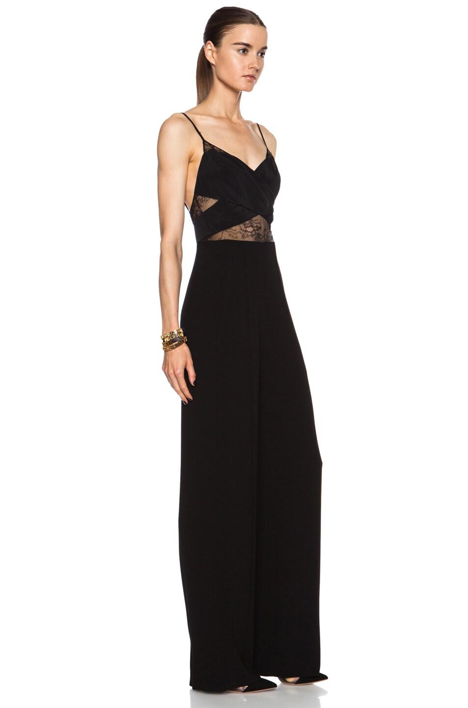 Image 3 of Noam Hanoch Anabella Acetate-Blend Jumpsuit in Black