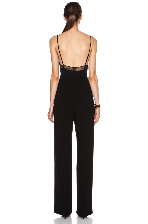 Image 4 of Noam Hanoch Anabella Acetate-Blend Jumpsuit in Black