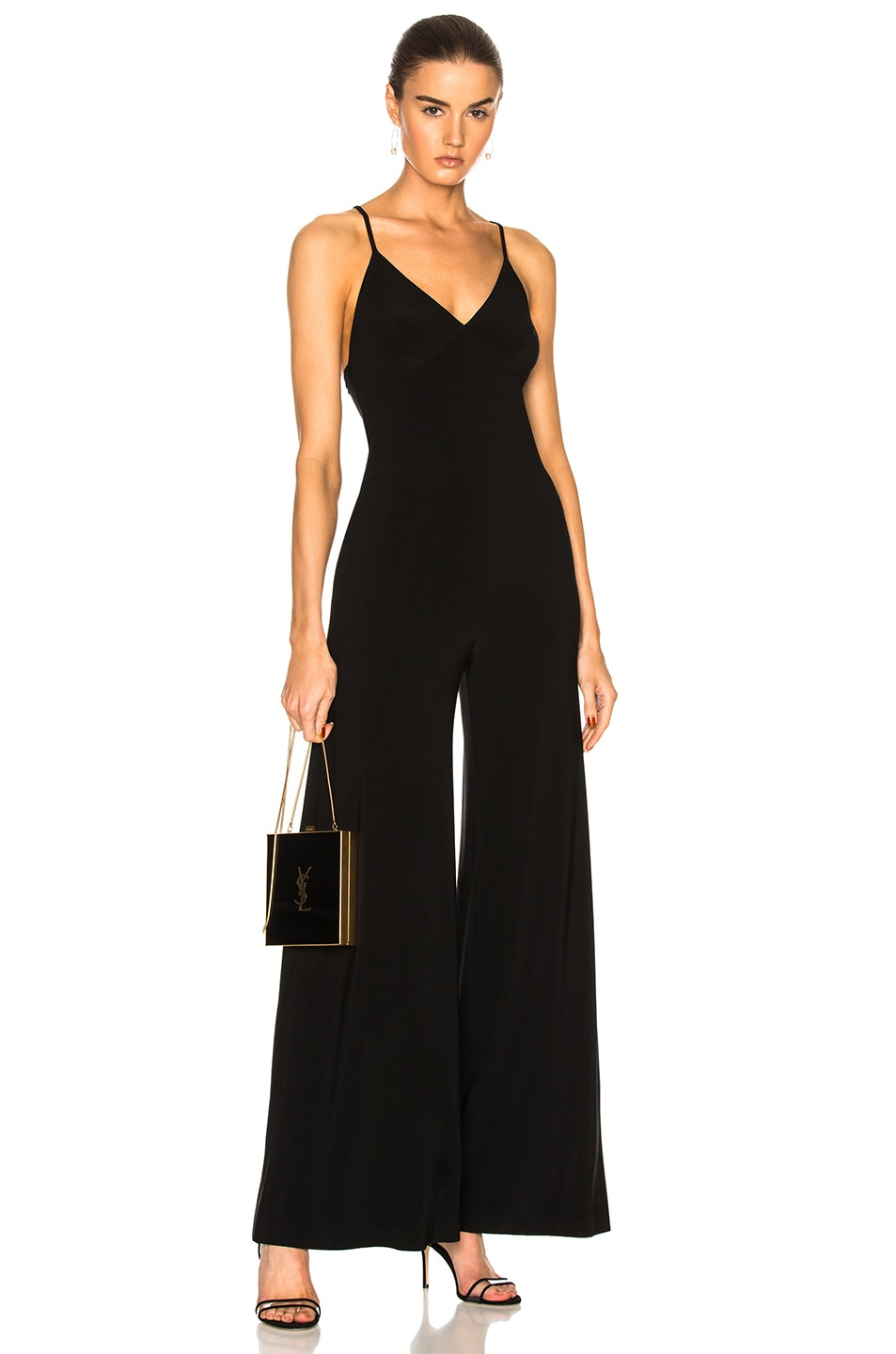 Image 1 of Norma Kamali Slip Jumpsuit in Black