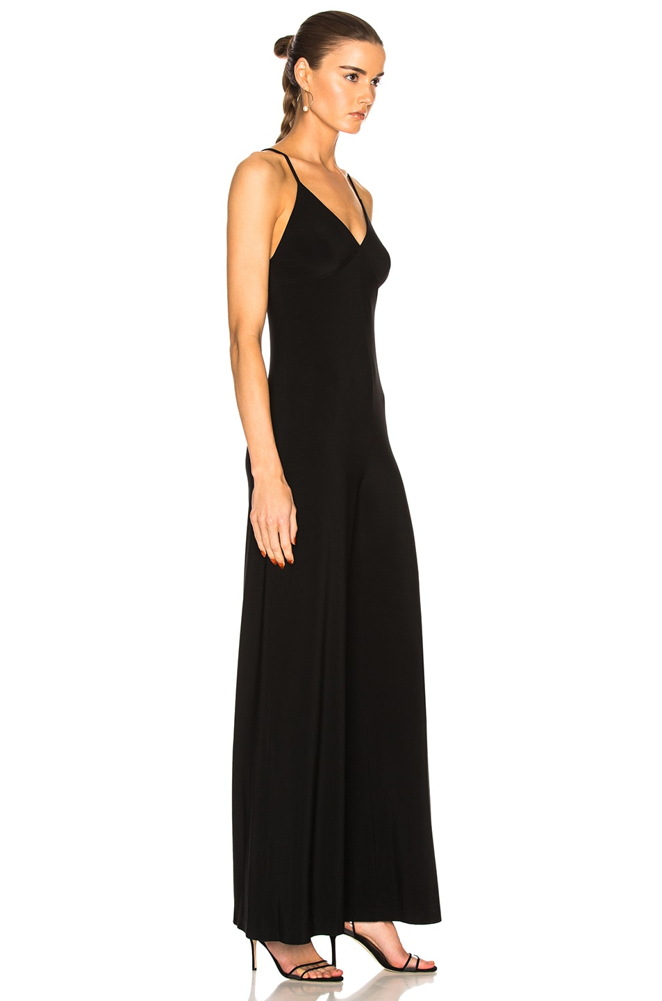 Image 2 of Norma Kamali Slip Jumpsuit in Black