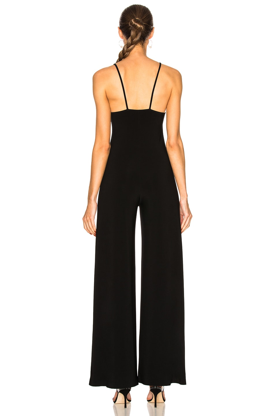 Image 3 of Norma Kamali Slip Jumpsuit in Black