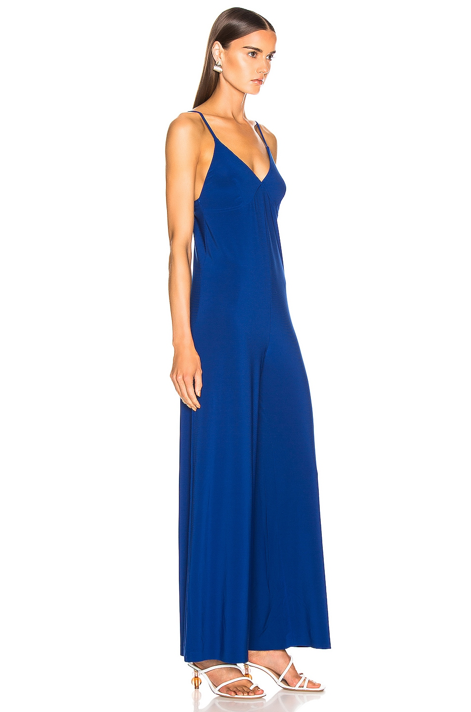 Image 2 of Norma Kamali Slip Jumpsuit in Berry Blue