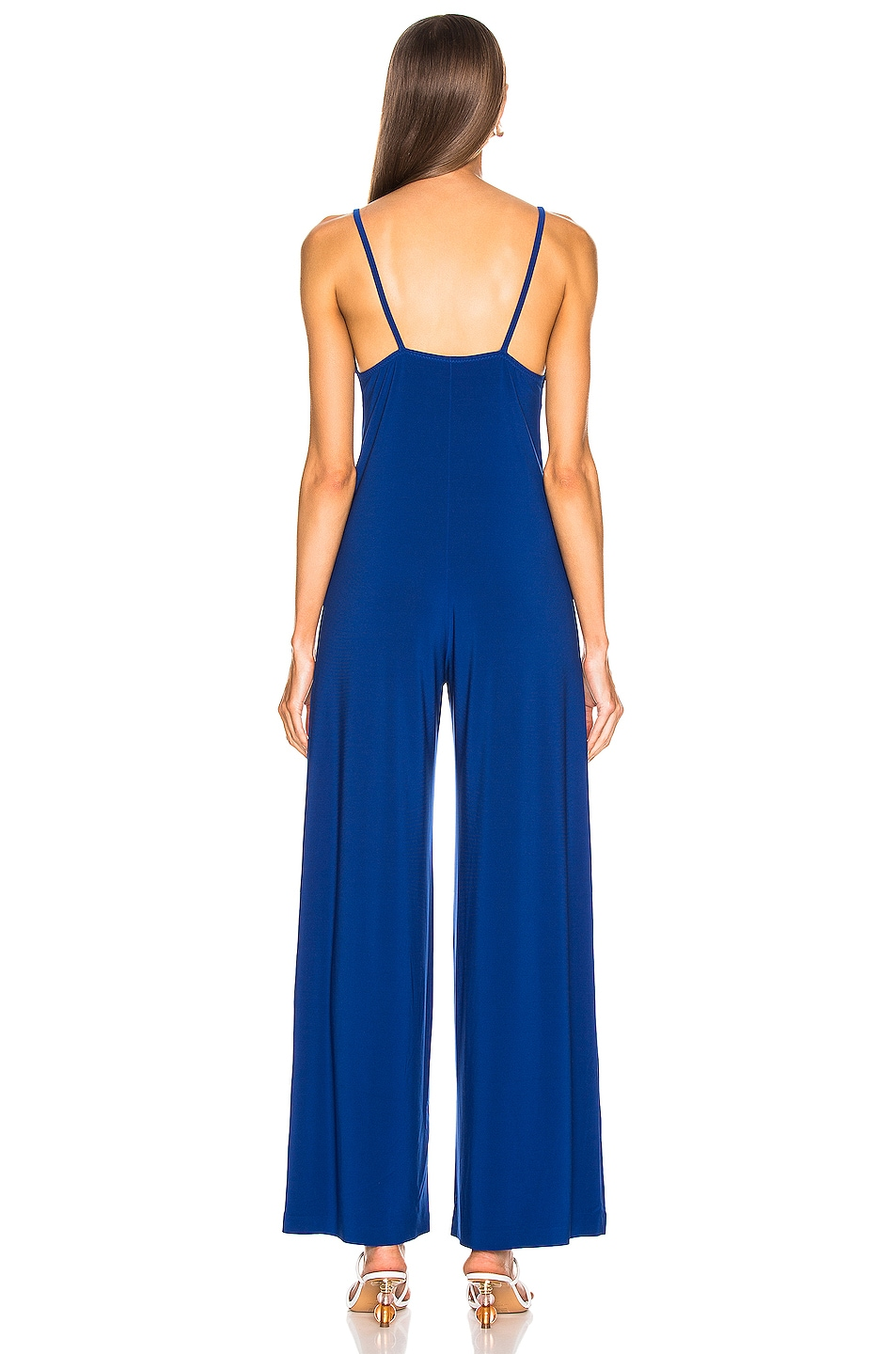 Image 3 of Norma Kamali Slip Jumpsuit in Berry Blue