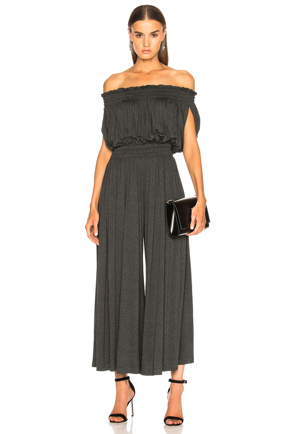 b3f7f4546f47 Image 1 of Norma Kamali Sleeveless Peasant Jumpsuit in Dark Grey