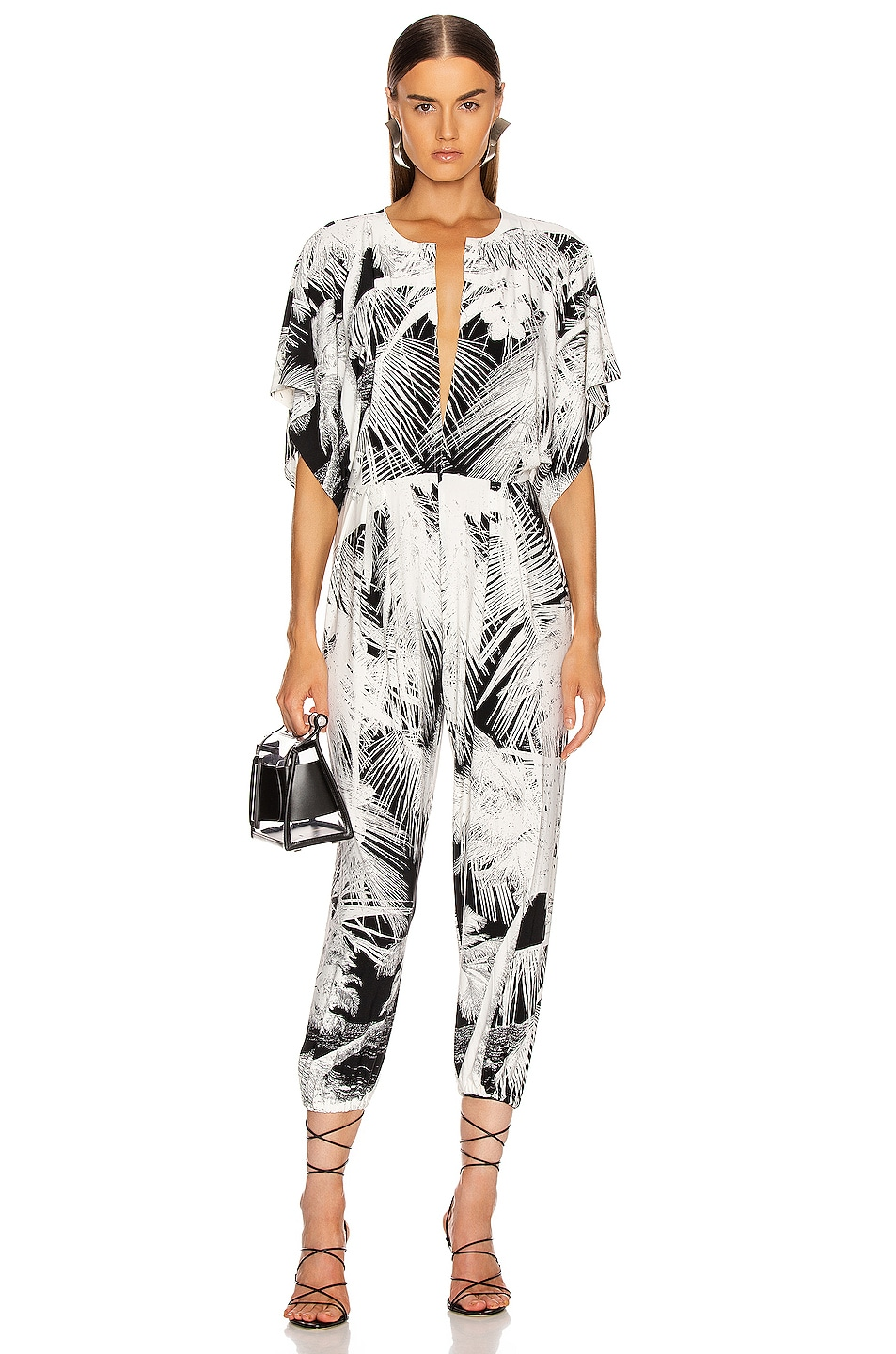 Image 1 of Norma Kamali Rectangle Jog Jumpsuit in Palm Beach