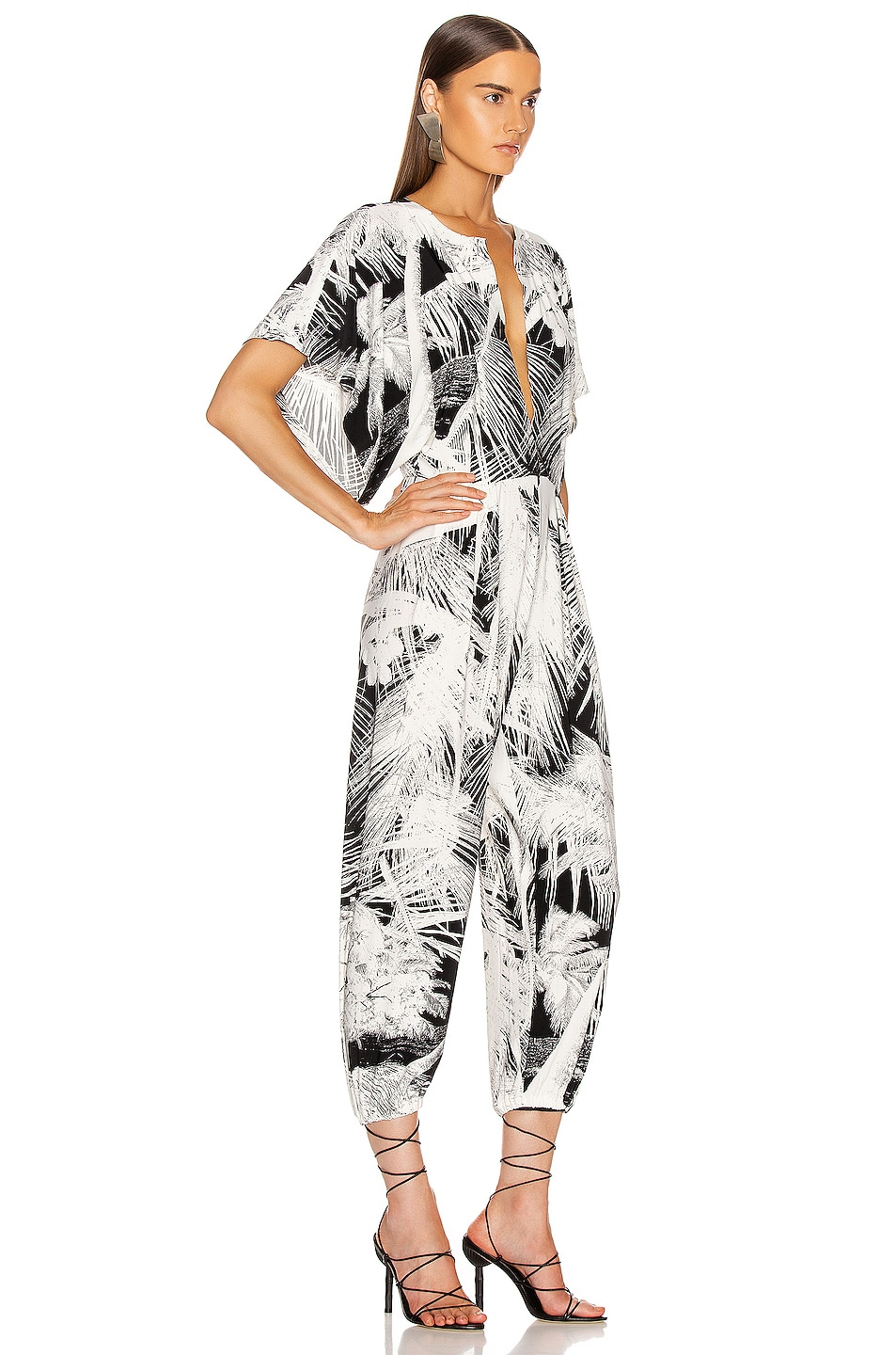 Image 2 of Norma Kamali Rectangle Jog Jumpsuit in Palm Beach