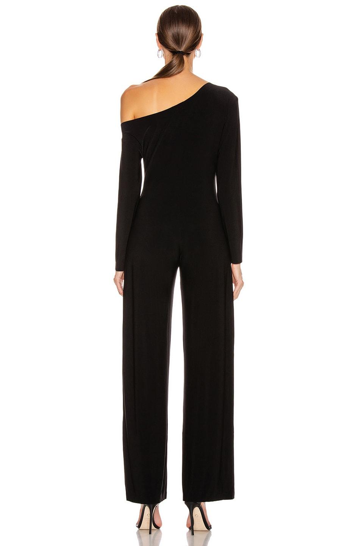 Image 3 of Norma Kamali Long Sleeve Drop Shoulder Jumpsuit in Black