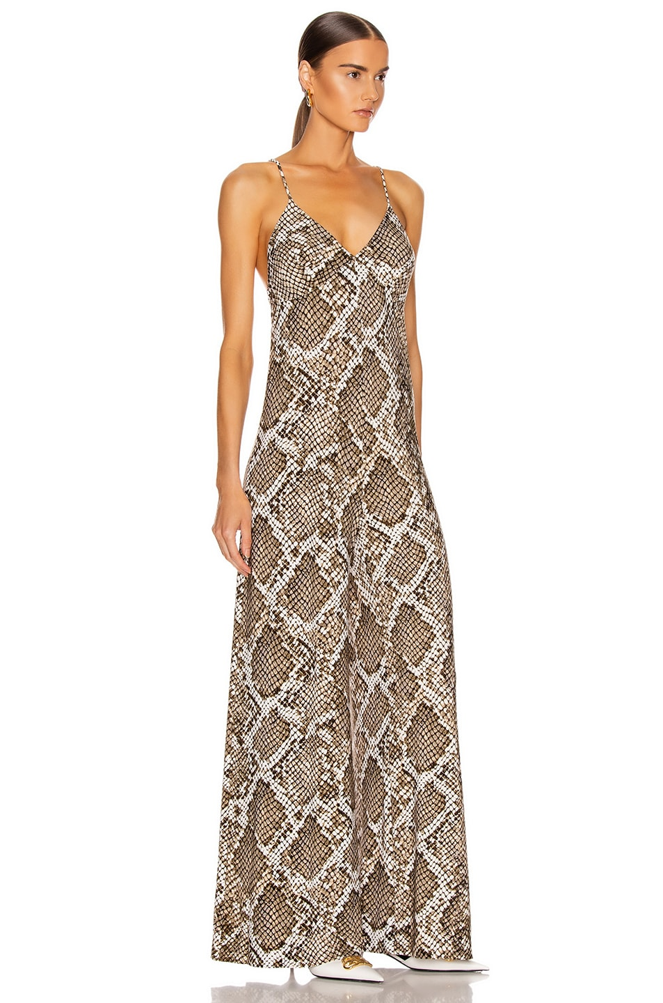 Image 2 of Norma Kamali Slip Jumpsuit in Scale Python