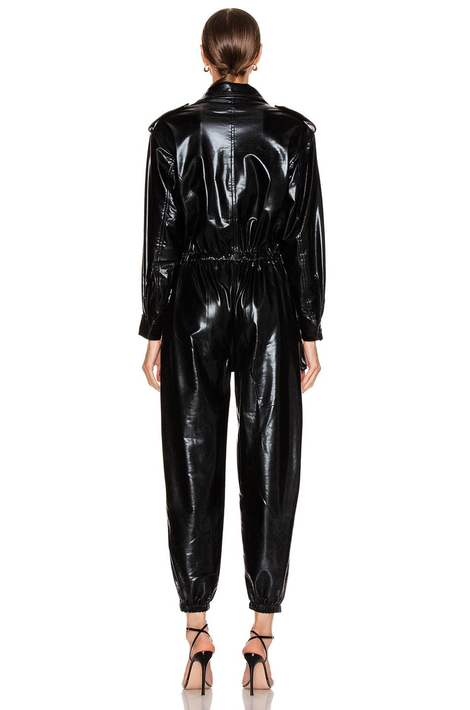 Image 3 of Norma Kamali Turtleneck Cargo Jumpsuit in Black Foil