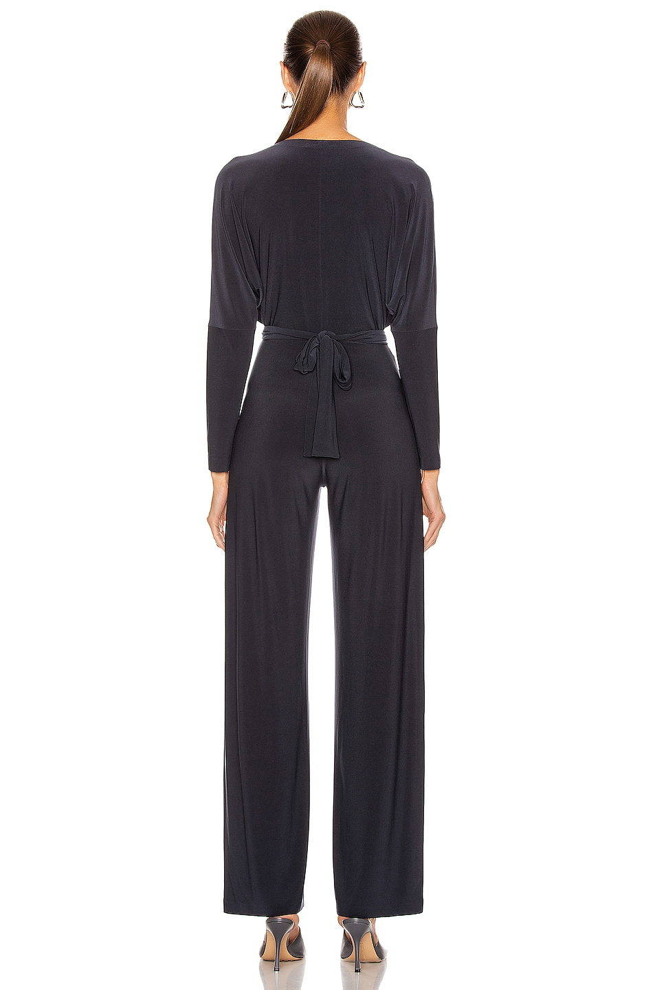 Image 5 of Norma Kamali Dolman Wrap Jumpsuit in Pewter