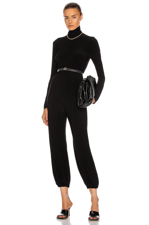 Image 1 of Norma Kamali Turtleneck Jog Jumpsuit in Black