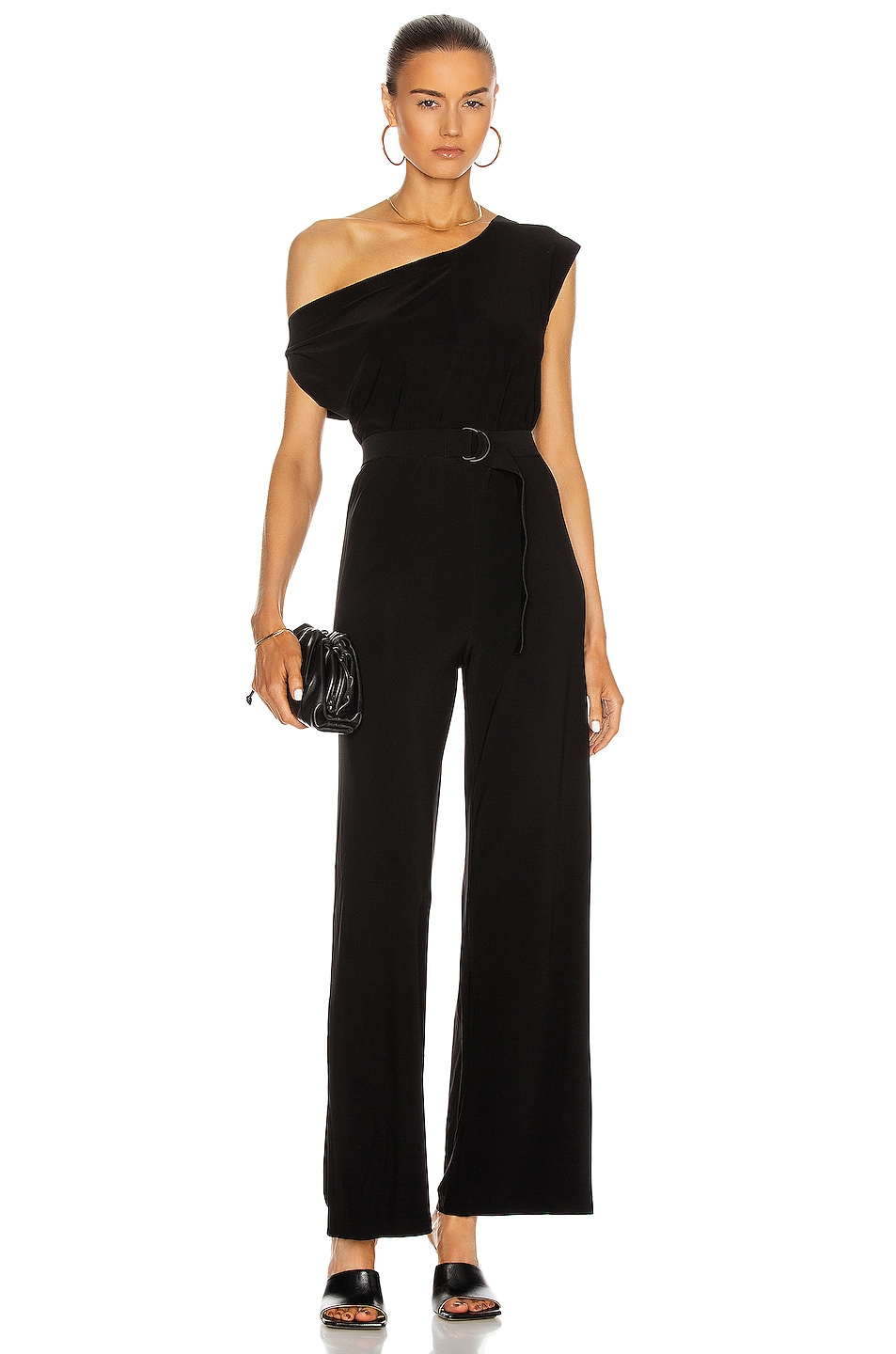 Image 1 of Norma Kamali Drop Shoulder Jumpsuit in Black