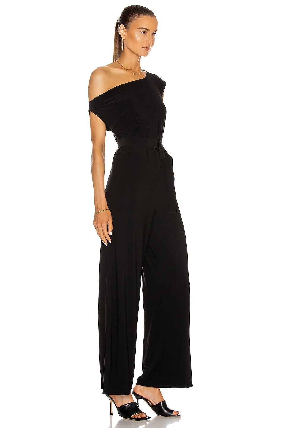 Image 2 of Norma Kamali Drop Shoulder Jumpsuit in Black