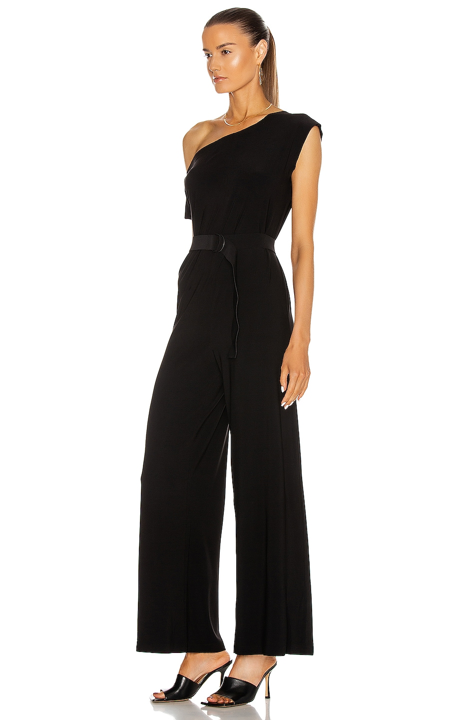 Image 3 of Norma Kamali Drop Shoulder Jumpsuit in Black