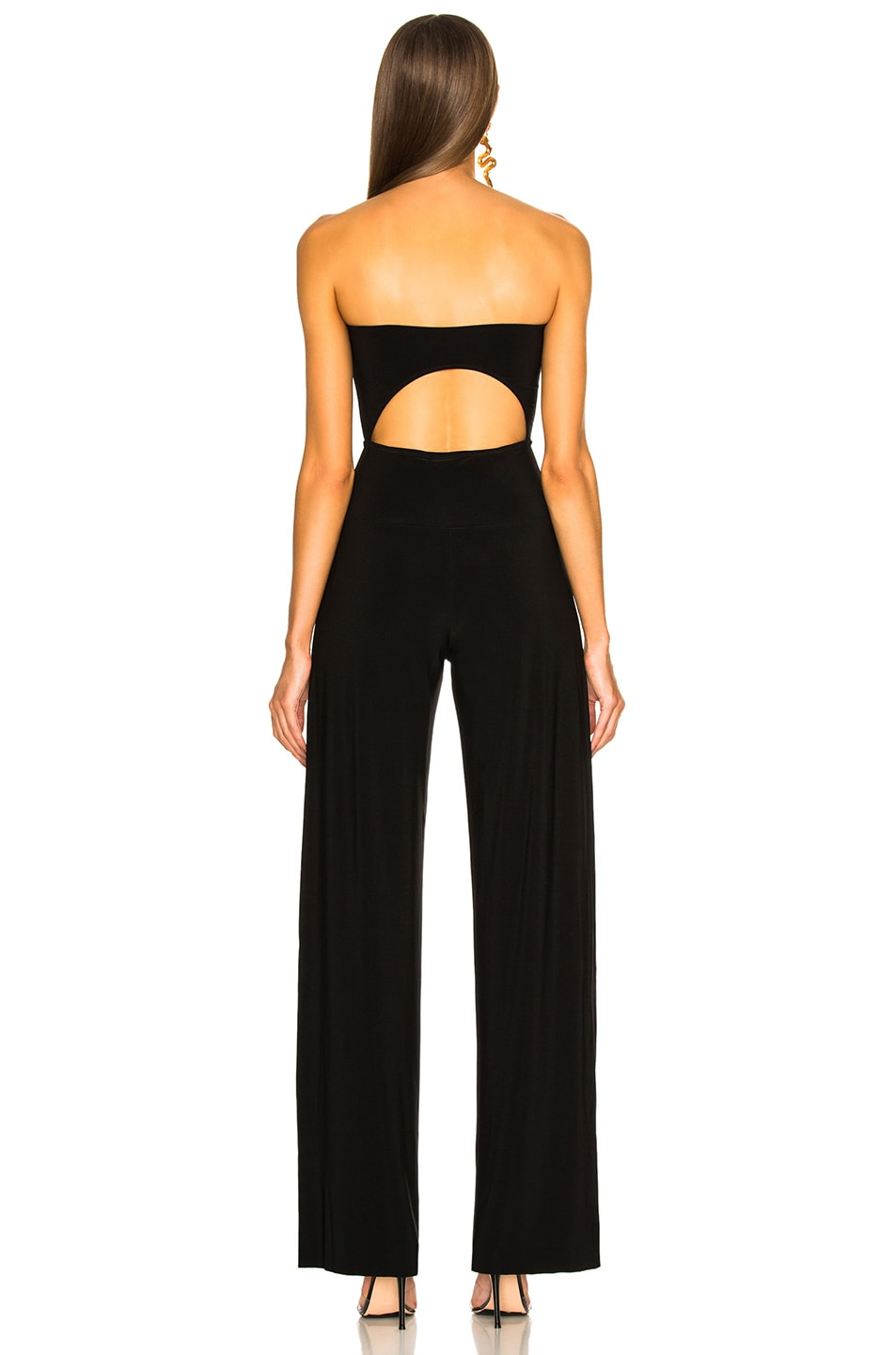 Image 3 of Norma Kamali Strapless Cut Out Jumpsuit in Black