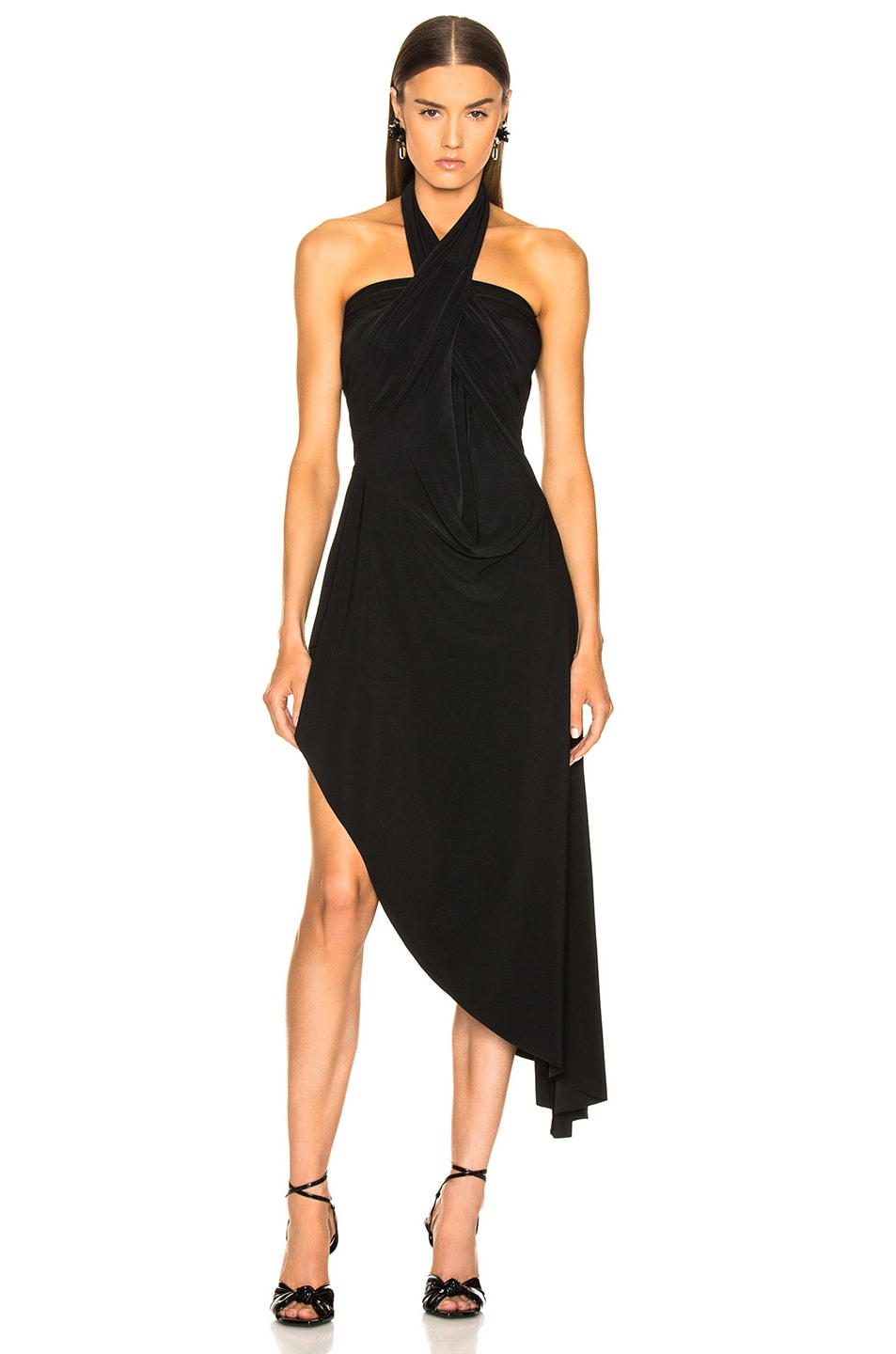 Image 3 of Norma Kamali All In One Hi Low Dress in Black
