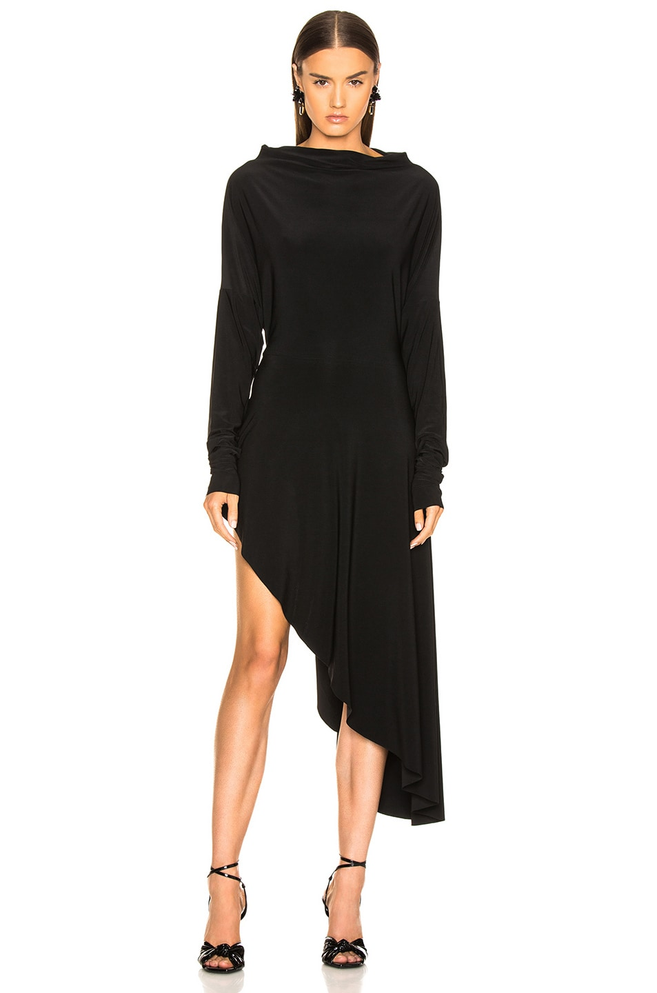 Image 4 of Norma Kamali All In One Hi Low Dress in Black
