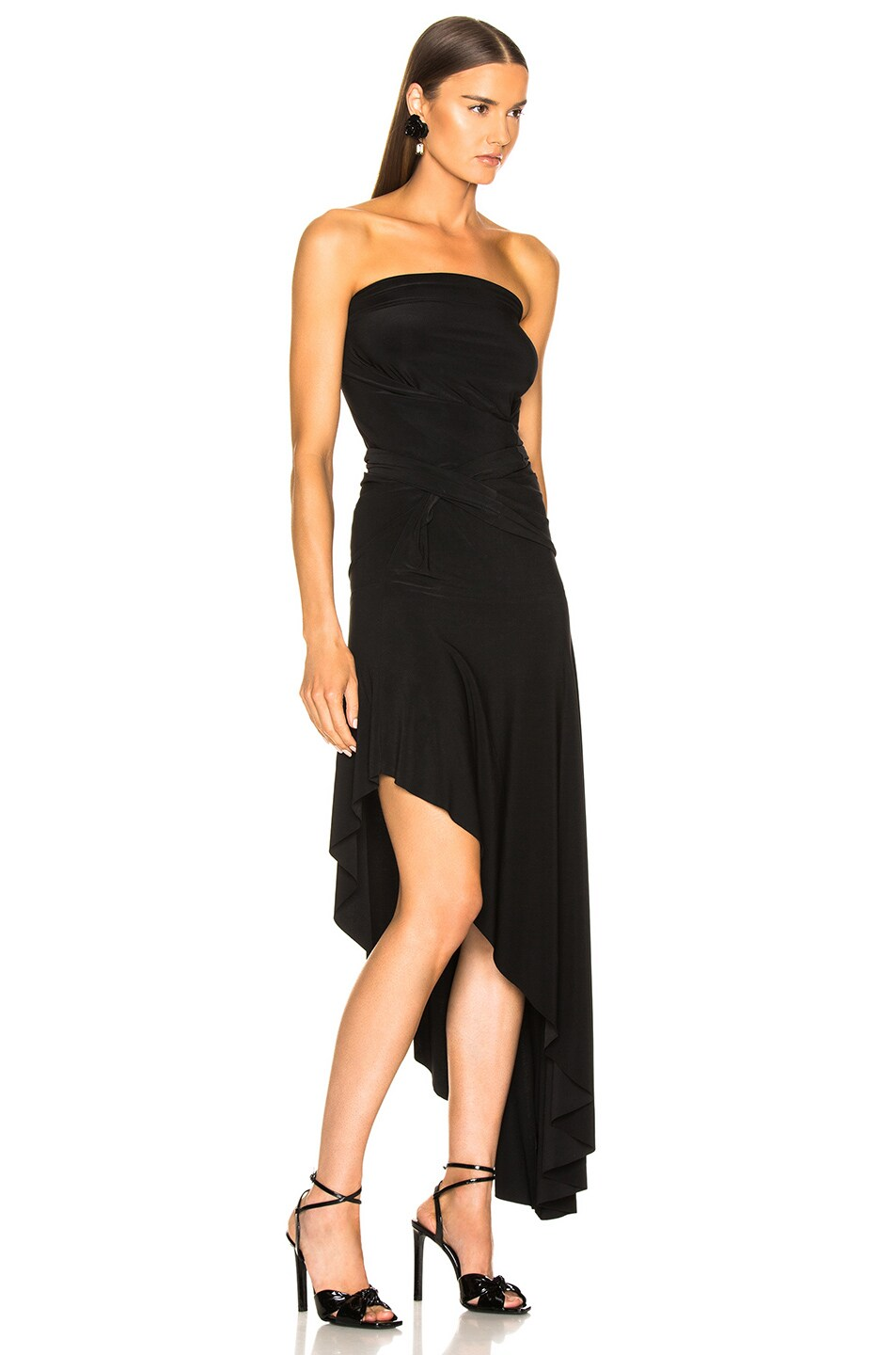 Image 5 of Norma Kamali All In One Hi Low Dress in Black